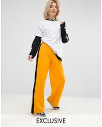 Adolescent Clothing - Wide Leg Joggers With Side Stripe - Lyst