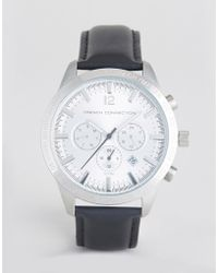 French Connection - Watch With Silver Multi Functional Dial - Lyst