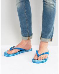 Hollister | Flip Flops Wave Image Print In Blue | Lyst