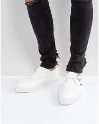 T.U.K. - Vegan Leather Pointed Buckle Creeper Shoes - Lyst