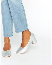 Daisy Street - Silver Mid Heeled Shoes - Lyst