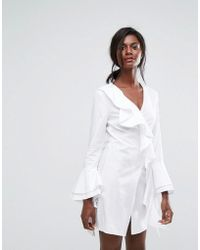 C/meo Collective - Still Standing Ruffle Wrap Dress - Lyst