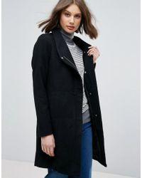 ONLY - Dance Wool Blend Funnel Neck Coat - Lyst
