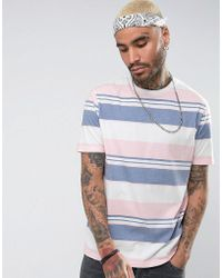 ASOS - Relaxed T-shirt With Pastel Stripe - Lyst