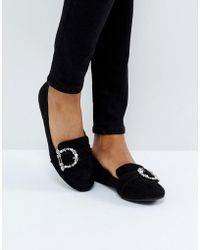New Look - Bedazzled Buckle Loafer - Lyst