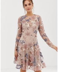 Bronx and Banco - Aurora Heavy Embellished Mini Dress - Lyst