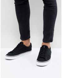 Polo Ralph Lauren - Sayer Canvas Trainers In Black - Lyst