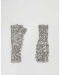 Eugenia Kim - Genie By Stef Light Gray Fingerless Gloves - Lyst