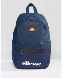 Ellesse - Backpack With Logo In Navy - Lyst