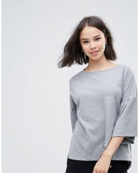 Soaked In Luxury - Jumper With Fluted Sleeve - Lyst