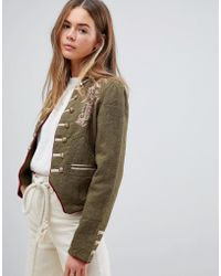 Free People - Laurens Band Military Jacket - Lyst