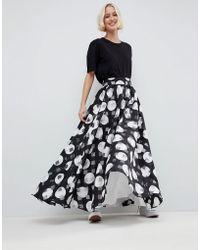 ASOS - Stripe And Spot Full Maxi Skirt - Lyst