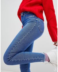 New Look - Frayed Hem Skinny Jean - Lyst