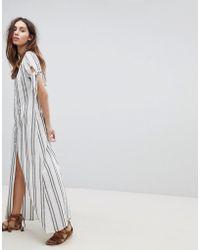 Flynn Skye - Button Front Maxi Dress - Lyst