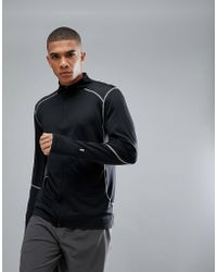 New Look - Sport Sweat With Zip Front In Black - Lyst