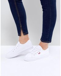 Levi's - Levi's Canvas Shoe With Red Tab - Lyst