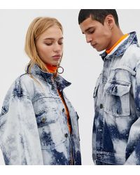 7e0367e109 Collusion - Unisex Oversized Denim Jacket In Bleach Effect - Lyst