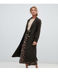 54362d08a327 Fashion Union Oversized Smart Coat In Check - Lyst