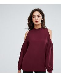 Y.A.S | Ruffle Cold Shoulder Top | Lyst