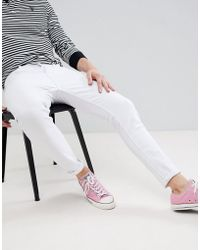 Pull&Bear - Carrot Fit Jeans In White - Lyst