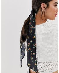 ASOS Dark Floral Headscarf - Multicolour