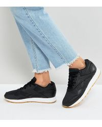 Reebok - Classic Rapide Trainers With Gum Sole In Black - Lyst
