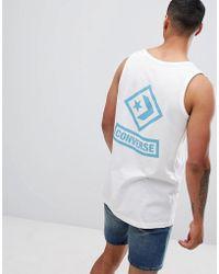 565de81f59031e Converse - Printed Vest In White 10008123-a01 - Lyst