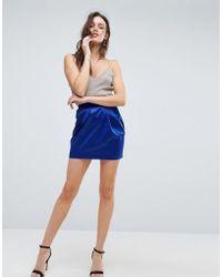 ASOS - Asos Satin Tulip Mini Skirt - Lyst