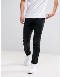 D-Struct - Distressed Cotton Slim Fit Chino - Lyst