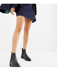 ASOS - Addie Leather Chunky Chelsea Boots - Lyst