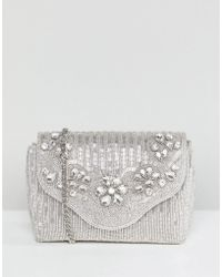Dune - All Over Embellished Bag In Silver - Lyst