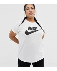9dd817c3 Nike Plus Pink Oversized Boyfriend T-shirt in Pink - Lyst