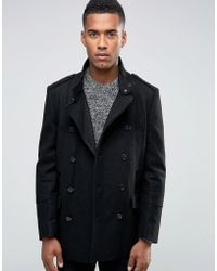 New Look - Peacoat In Black - Lyst