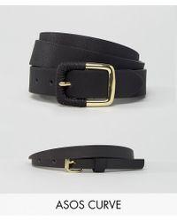 ASOS - 2 Pack Skinny Waist Belt And Jeans Belt - Lyst