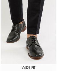 KG by Kurt Geiger Kg By Kurt Geiger Wide Fit Leather Brogue Shoes