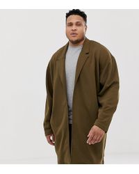 ASOS - Plus Oversizesd Jersey Duster In Brown - Lyst