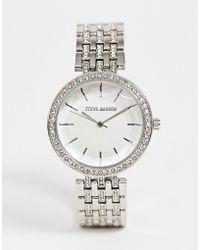 Steve Madden - Womens Bracelet Watch In Silver - Lyst