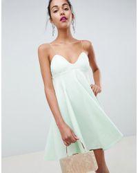 ASOS - Design Cami Babydoll Swing Mini Dress - Lyst