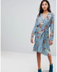 Gestuz - Floral Printed Wrap Dress - Lyst