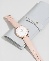 Cluse - La Boheme Cl18014 Leather Strap Watch In Pink - Lyst