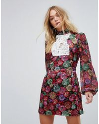 Millie Mackintosh - Printed Mini Dress - Lyst