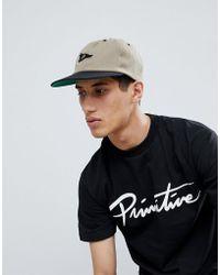 Primitive - Felt Pennant Logo Baseball Cap In Camel - Lyst