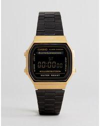 G-Shock - A168wegb Digital Bracelet Watch In Black - Lyst