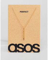 ASOS - Sterling Silver Valentines Necklace With Match In Burnished Gold Plate - Lyst