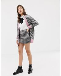 Sister Jane - Mini Skirt With Embellished Bow In Tweed Co-ord - Lyst