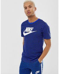 95847e76cfe Fred Perry Tonal Gingham Knitted Polo Shirt In Navy in Blue for Men ...