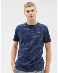 Hollister - Icon Logo T-shirt In Navy Marl - Lyst