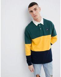 Mango - Man Rugby Polo Shirt In Green - Lyst