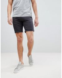 Blend - Chino Shorts In Grey - Lyst