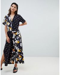 French Connection - Oversized Jumpsuit In Aventine Print Block - Lyst